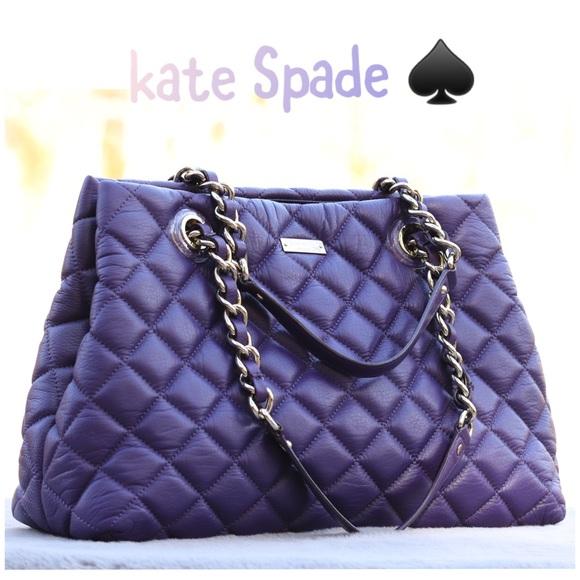 kate spade Handbags - Kate Spade Purple Quilted Chain Shoulder Bag